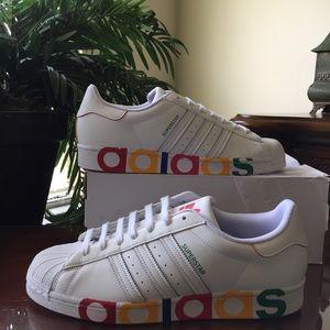 Adidas Originals Superstar White Sneakers Size 11